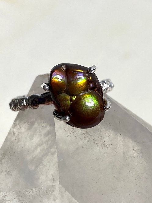 Mexican Fire Agate Ring Genuine Size 6.75