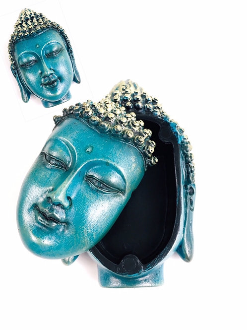 Beautiful Turquoise Buddha Box Vintage finish