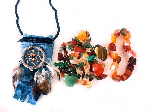 Prosperity Crystal Pouch Plus Carnelian Bracelet