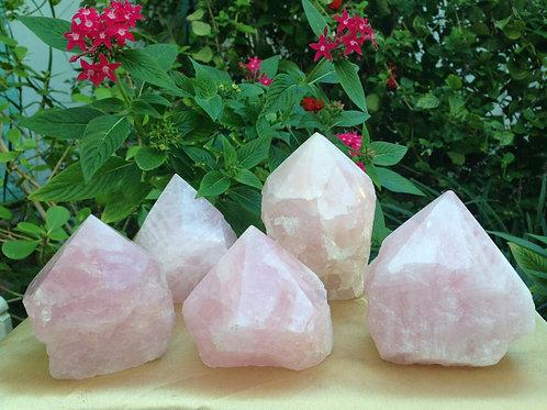 Rough Rose Quartz Crystal Specimen Self Standing