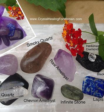Pain Relief Crystal Medicine Bag