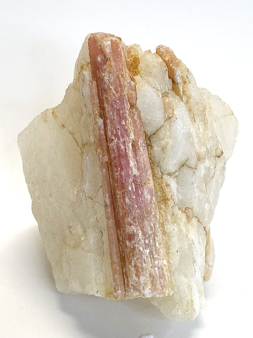 Pink Tourmaline on Quartz Matrix