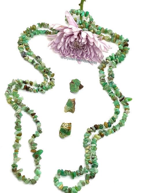 Chrysoprase Necklace Genuine Stone