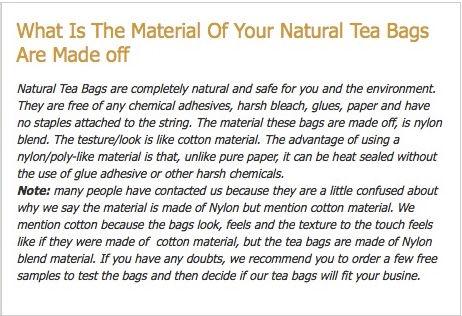 natural tea bags material