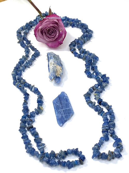 Blue Kyanite Long Necklace