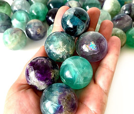 Fluorite Sphere Crystal Natural