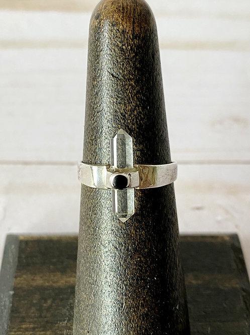 Double Terminated Quartz Ring Design #2