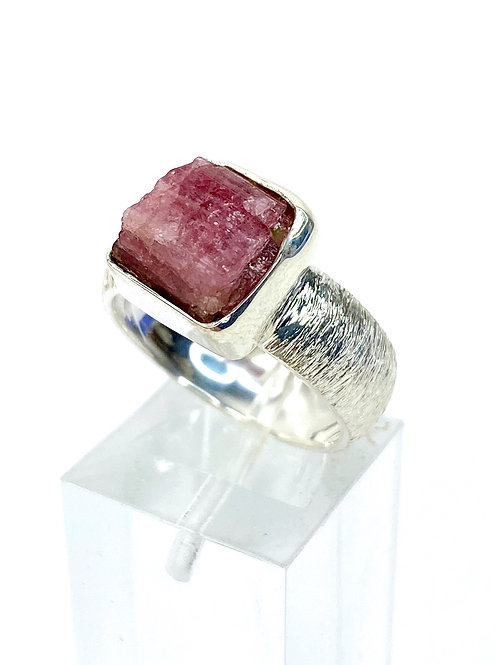 Pink Tourmaline Ring 925 Sterling Silver