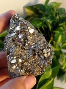 Peruvian Pyrite Cluster Specimen 5 oz