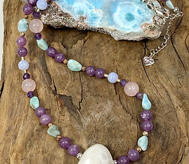 Depression Anxiety Crystal Healing Necklace