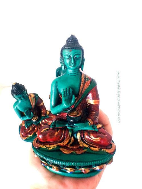 Green Malachite Gautam Buddha Statue Figurine