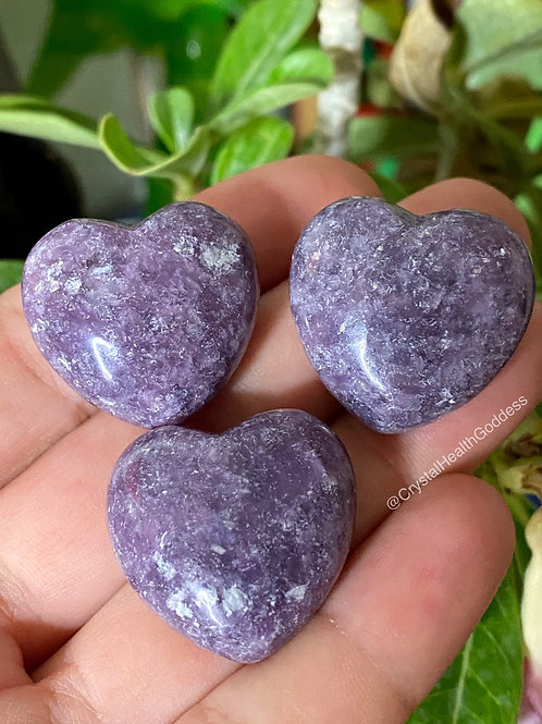 Lepidolite Heart Stone Natural