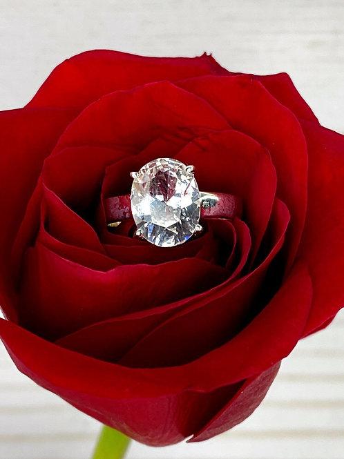Goshenite Engagement Ring Various Sizes
