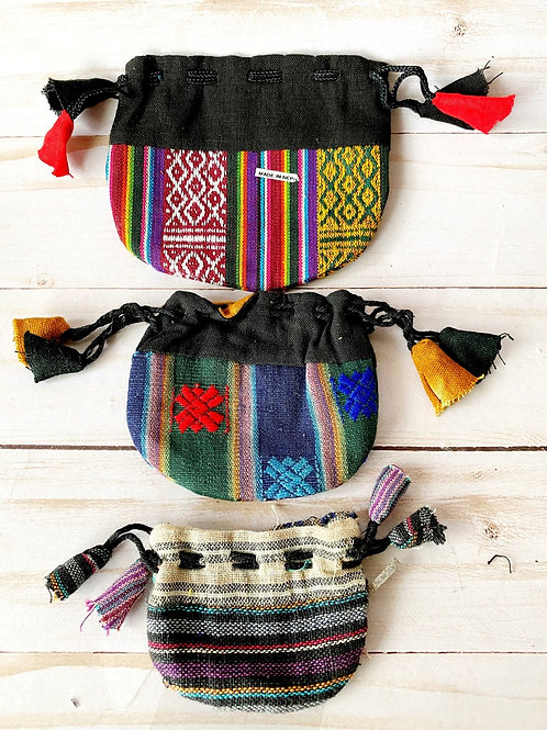 Crystal Medicine Cotton Bag Pouch From Nepal