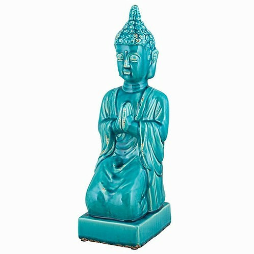 Large Praying Buddha Glaze Sculpture