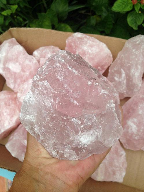 Rough Rose Quartz Crystal Specimen Large