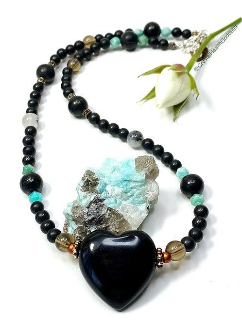 Shungite Necklace Collection Design #1