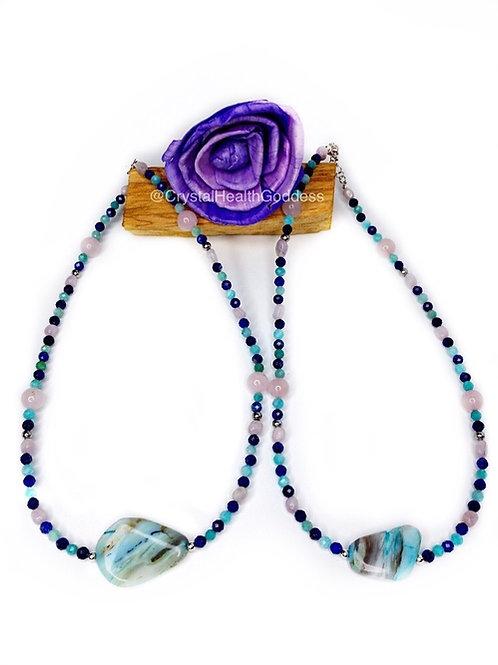 Ocean Vibes Crystal Healing Necklace Design #1