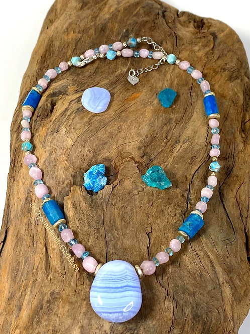 Calming Energy Crystal Healing Necklace