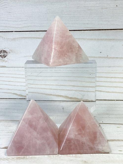 Rose Quartz Pyramid Large 50mm