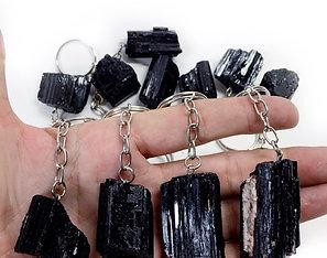 Black Tourmaline Keychain Rough