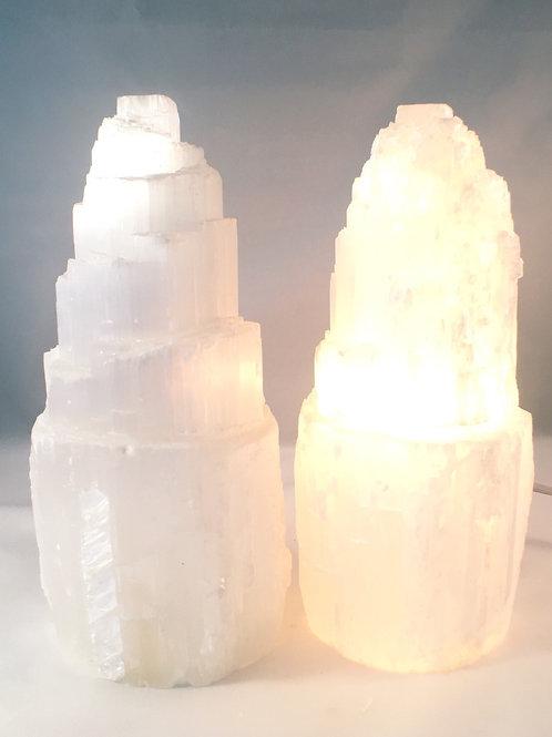Selenite Lamp Small Size Top Quality Selenite
