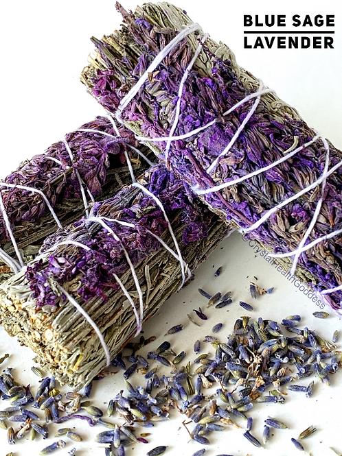 Blue Sage Lavender Smudge Stick