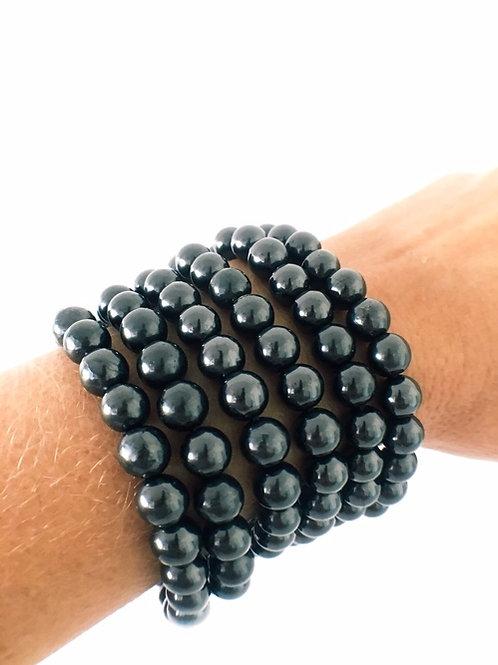Shungite Beads Bracelet 8mm