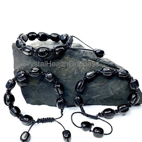 Shungite Stone Wrapped Bracelet Adjustable