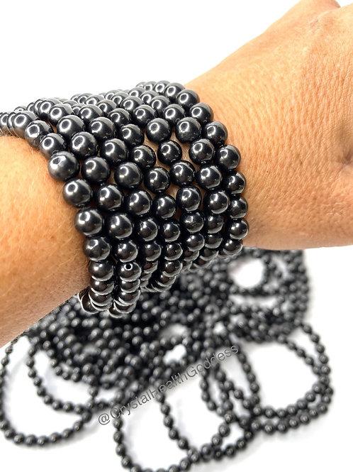 Shungite Beads Bracelet 6mm