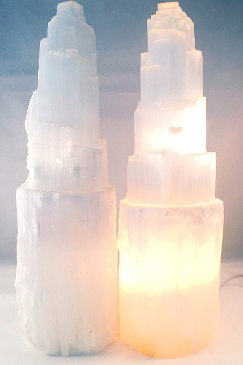 Selenite Lamp Large Size