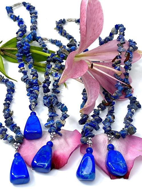 Lapis Lazuli Necklace Natural Stone