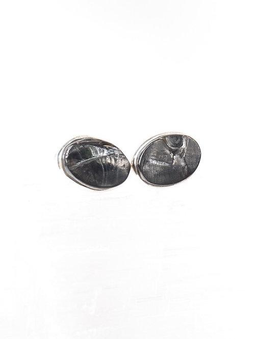 Elite Shungite Earrings Sterling Silver Design #3