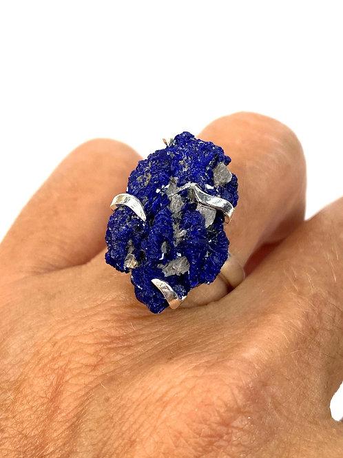 Rough Azurite Ring Size 7