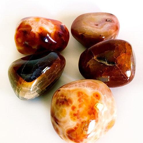 Genuine Fire Agate Stone Jumbo Size