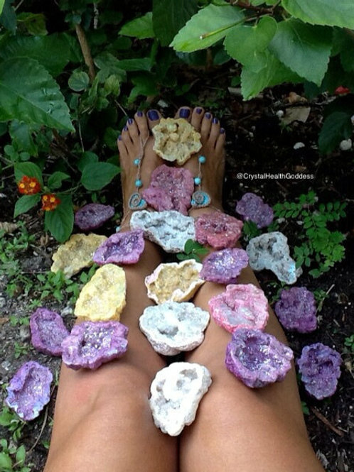 Aura Quartz Geodes Super Sparkly and Beyond Beautiful