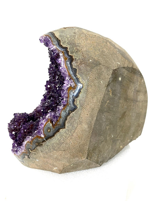 Amethyst Quartz Cathedral Geode  4.9 Lb