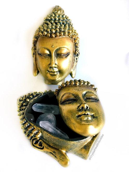 Beautiful Golden Buddha Box Vintage finish