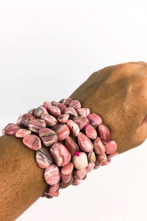 Natural Rhodochrosite Healing Bracelet