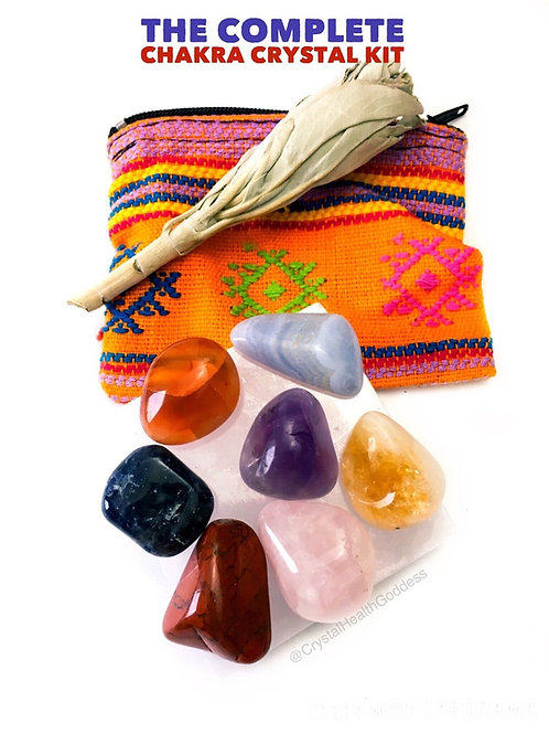 Complete Chakra Crystal Healing Kit