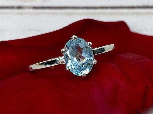 Blue Topaz Engagement Ring Size 8