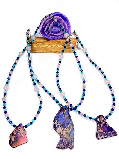 Ocean Vibes Crystal Healing Necklace Design #2