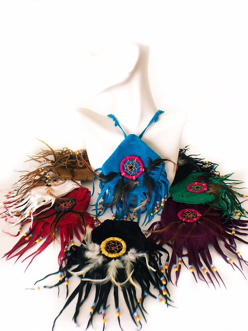 Beaded Dreamcatcher Indian Pouch Medicine Bag