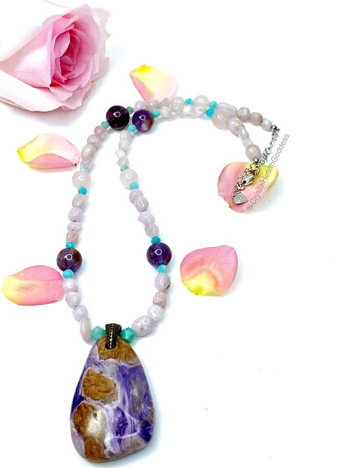 Love Thyself Crystal Healing Necklace