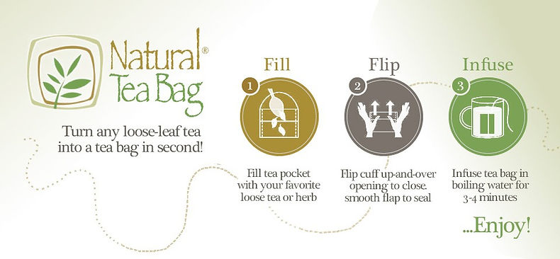 how to use natural tea bags