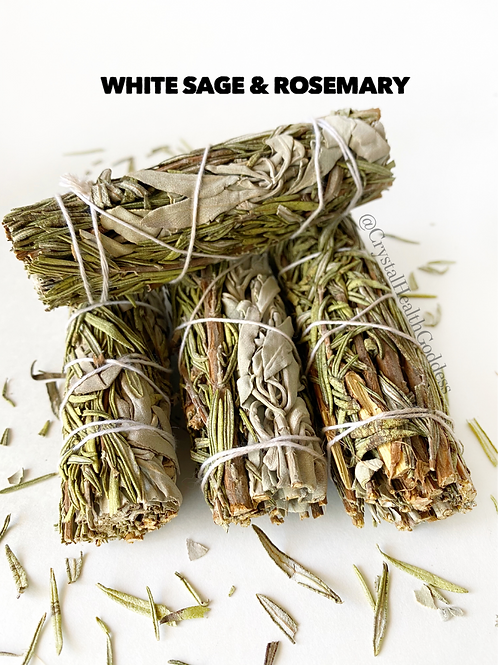 White Sage Rosemary Smudge Stick