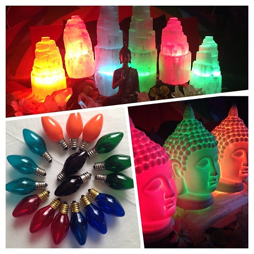 Color Light Bulb Small For Crystal Lamps