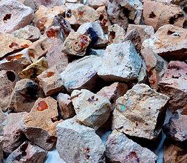 Mexican Fire Opals Rough On Matrix Cantera