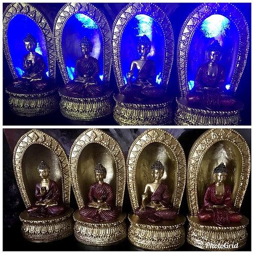 Thai Buddha Led Golden Temple figurine