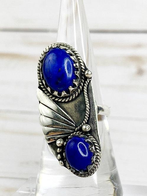 Lapis Lazuli Artisan Ring Southwest Design 8.5